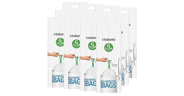 Amazon.com: Brabantia – Tamaño G 20 Count basura para 30 ...