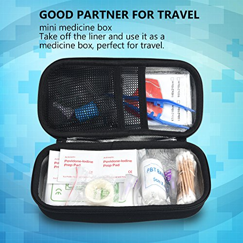 Insulin Cooler Bag Diabetic Organizer Medical Travel Cooler Pack with 3 Ice Pack (Black) by PlasMaller (Image #6)