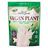 #3: Vegan Plant Protein Powder Meal Replacement Shakes -NutraBlendz Natural Whole Food Vitamins. Gluten Free. Rice Pea Protein.Make Nutritious Smoothies For Weight Loss & Health.Women & Men Vanilla 15serv