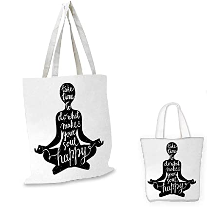 Amazon.com: Yoga fashion shopping tote bag Black Silhouette ...