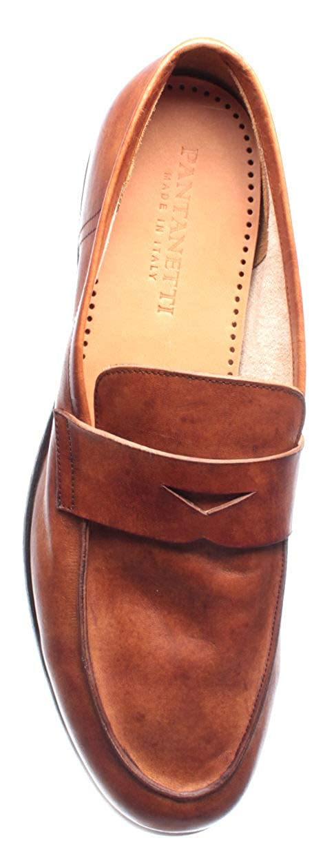 f1c865b144154d PANTANETTI Chaussures Homme Mocassins 11493H Olden Brandy Slim 908 Cuoio  Made It: Amazon.fr: Chaussures et Sacs