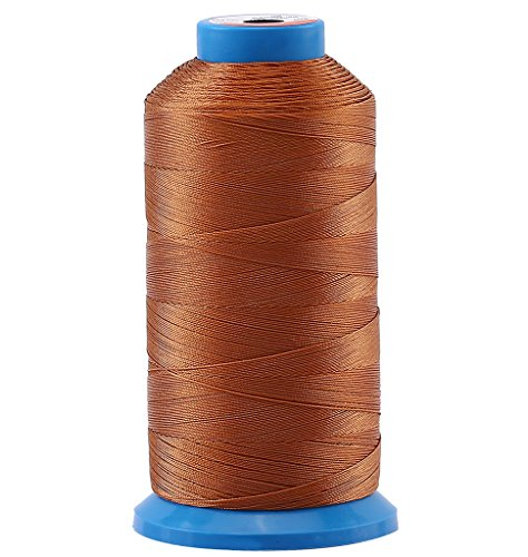69 Leather - Selric [1500 Yards/Coated/No Unravel Guarantee/21 Colors Available] Heavy Duty Bonded Nylon Threads #69 T70 Size 210D/3 for Upholstery, Leather, Vinyl, and Other Heavy Fabric (Brown)