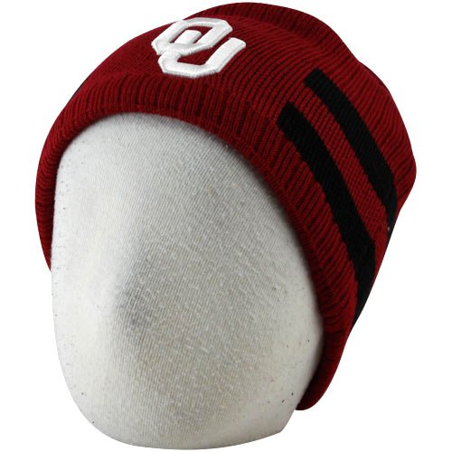 Maroon Beanie Reversible Knit (Nike Oklahoma Sooners Preschool Crimson-Black Reversible Knit Beanie Size 4-7)