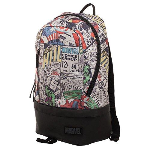 Marvel Comic Backpack - Marvel Backpack w/Bottom Zip (Zip Bottom)