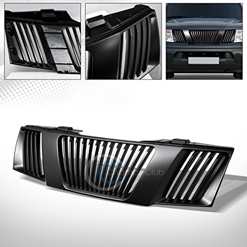 R&L Racing Matte Black Finished Front Grille Badgeless Vertical Style Hood Bumper Grill for 2005-2008 Nissan Frontier All Models | 2005-2007 Nissan Pathfinder All Models (Vertical Bar Style Grille)