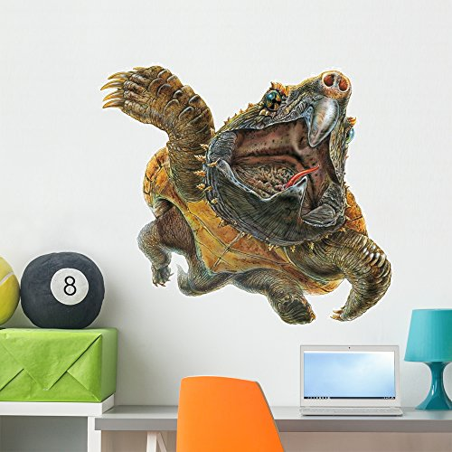 Alligator Snapping Turtle Wall Decal by Wallmonkeys Peel and Stick Graphic (36 in W x 30 in H) WM121872