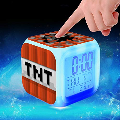 (Wasab Alarm Clock for Kids Clock for Boys Seven Digital Light Decor Clocks for Girls Bedroom)