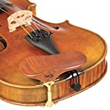 SAS Pearwood Chinrest for 3/4-4/4 Violin or Viola with 24mm Plate Height and Goldplated Bracket