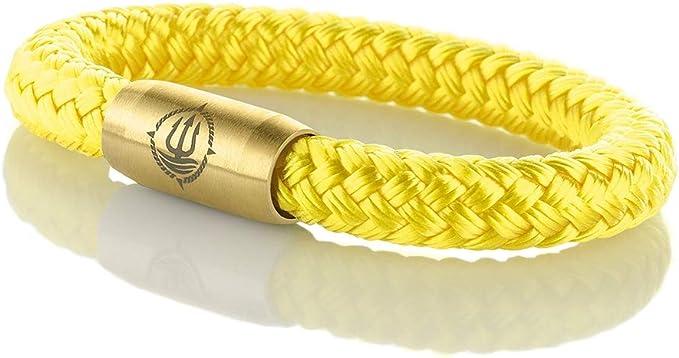 "Seemannsgarn /_ Maritimes Segeltau Armband /""Föhr/"" gelb 8mm"