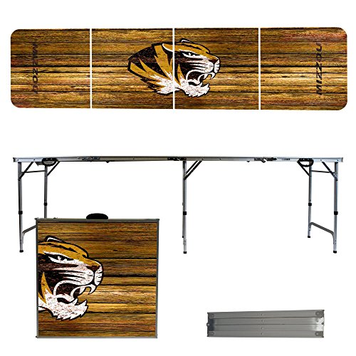 NCAA Missouri Tigers Weathered Version 8' Portable Folding Tailgate Table by Victory Tailgate