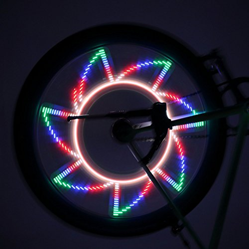 OUTAD LED Bike Wheel Lights, Waterproof Ultra Bright 32 LED Bicycle Wheel Spoke Decorations Light - 32 Different Patterns Change - Colorful Bicycle Tire Accessories - Easy To Install by OUTAD (Image #4)