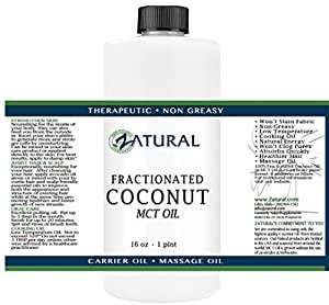 Fractionated Coconut Oil-MCT Oil, 6 Sizes Available, Food and Therapeutic Grade, Carrier Oil, Massage Oil, Hydrating Oil, Hair Oil, 0 Additives, Organic Coconut, Pure Coconut Oil (16 Ounce)