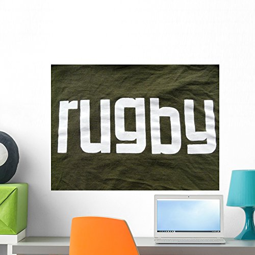 Rugby Wall Mural by Wallmonkeys Peel and Stick Graphic (24 in W x 18 in H) (Home Rugby Shirt Collection)