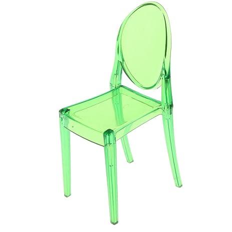 Merveilleux MonkeyJack 1/6 Dolls House Furniture Plastic Green Ghost Chair For Barbie  Dolls 16cm Height
