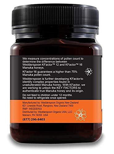 Wedderspoon Raw Premium Manuka Honey KFactor 16, Unpasteurized, Genuine New Zealand Honey, Multi-Functional, Non-GMO Superfood, 35.2 oz, 2 Pack by Wedderspoon (Image #2)