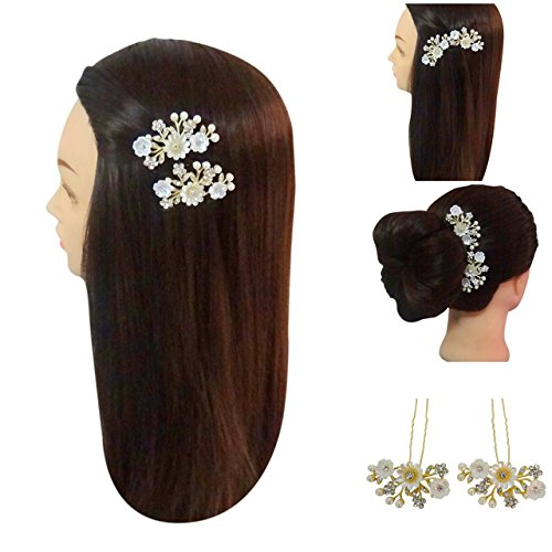 (Vogue Hair Accessories Hair Clip Shell Flowers Hair Pins (Style-1))