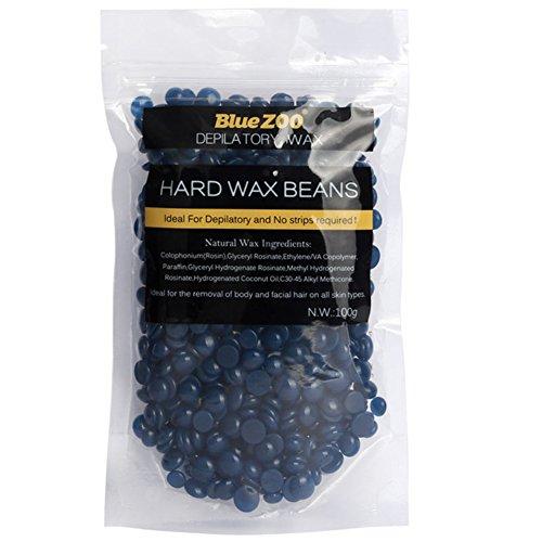 Depilatory Wax, Htgtai Bluezoo Chamomile Stripless Film Hard Wax Beads, Natural, 100g/3.53 OZ