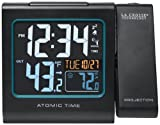 La Crosse Technology 616-146 Color Projection Alarm Clock with Outdoor temperature & Charging