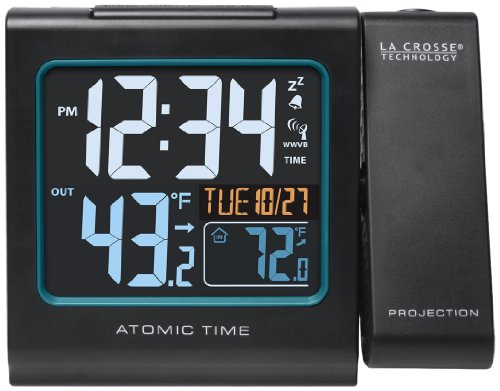 (La Crosse Technology  616-146 Color Projection Alarm Clock with Outdoor temperature & Charging USB port)