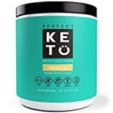 #4: Perfect Keto Protein Powder Vanilla: Grass Fed Collagen Peptides Low Carb Keto Drink Supplement With MCT Oil Powder - Best as Keto Drink Creamer or added to Ketogenic Diet Snacks. Paleo & Gluten Free