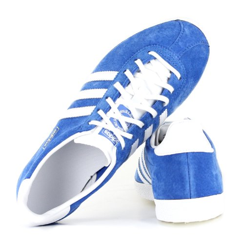 adidas Originals Gazelle Originals, Chaussons Sneaker Adulte Mixte Bright Royal / blanc / Or Métallisé