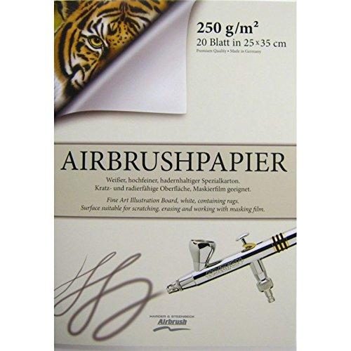 20 fogli cartoncino aerografia Harder & Steenbeck 25x35 cm