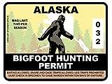Bigfoot Hunting Permit - ALASKA (Bumper Sticker)