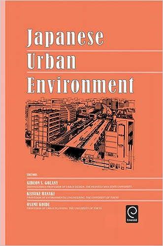 Book Japanese Urban Environment