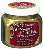 gold metal paint - DecoArt DA071-51 Elegant Finish Metallics, 10-Ounce, Glorious Gold