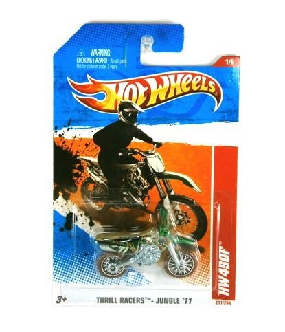 Hot Wheels 2011 Thrill Racers Jungle HW450F Dirt Bike Dirtbike Motorcycle Camo Camouflage