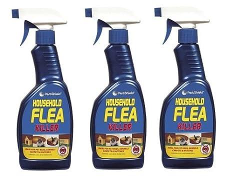 3 x hogar matar pulgas spray para gato perro alfombra suave muebles cama 500 ml nuevo: Amazon.es: Hogar