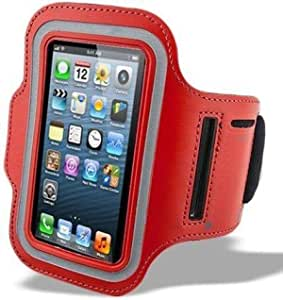 iPhone 6 (5.5 Inch) Arm Band Mobile Phone Holder For Sports Gym Running Jogging Red