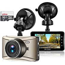 """OldShark G13 Car Dash Cam 3.0"""" 1080P 170 Wide Angle Dashboard Camera Driving Video Recorder with Sony Sensor Night Vision, G-Sensor, Loop Recording, WDR, Free 16GB SD Card (Upgraded GS505)"""