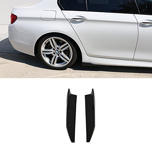 Side Skirts Fits Universal | V4 Style Unpainted Black Polyurethane (PU) Spoiler Extension Winglet Wind Blades Rocker Splitter by IKON MOTORSPORTS
