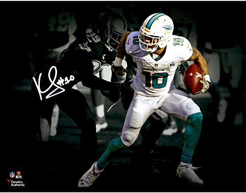 """Kenny Stills Miami Dolphins Autographed 11"""" x 14"""" Spotlight Photograph - Fanatics Authentic Certified by Sports..."""