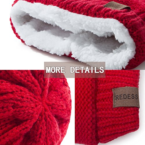 REDESS Baby Boy Winter Warm Fleece Lined Hat, Infant Toddler Kids Beanie Knit Cap Girls Boys [0-5years] by REDESS (Image #2)