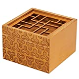 bits and pieces - the king's fortune puzzle box - secret compartment brain game for adults - stash