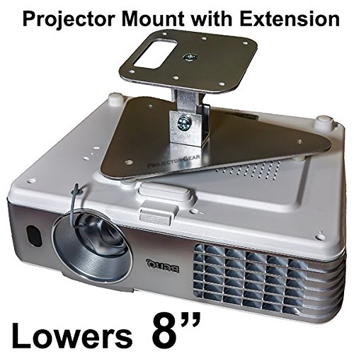 """Projector-Gear Projector Ceiling Mount for BENQ HT1075 with Extension Lowers 8"""""""