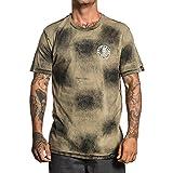 Sullen Mens Hanya Cobra T-Shirt Bleach Wash Green