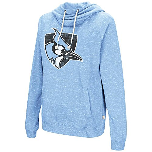 (Colosseum Womens Johns Hopkins Blue Jays Pull-Over Hoodie - L )