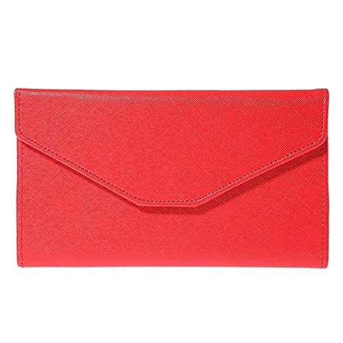 Sookiay Womens Envelope Clutch Wallet - Red