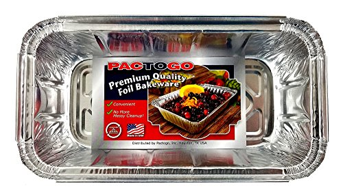 Pactogo 1 1/2 lb. IVC Disposable Aluminum Foil Loaf Bread Pan w/Board Lid (8'' x 4.1'' x 2.2'') - Heavy Duty Made in USA (Pack of 50 Sets) by PACTOGO (Image #4)'