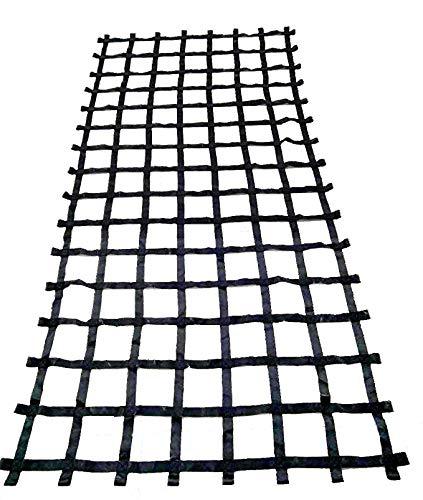 FONG 13' X 6' Climbing Cargo Net Black - Swing Set Accessories - Indoor Climbing net - Outdoor Playground Swing, Belt Swing, Playground Hanging Step Ladder (13)