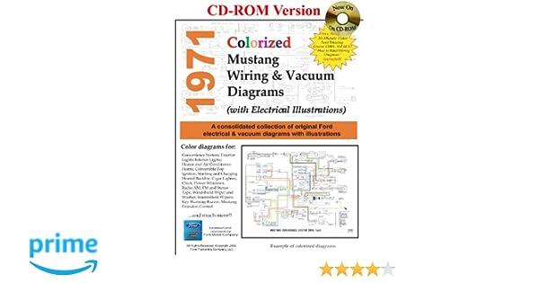 1971 colorized mustang wiring \u0026 vacuum diagrams david e leblanc Ford 4630 Electrical Diagram 1971 colorized mustang wiring \u0026 vacuum diagrams david e leblanc 9781603710305 amazon com books