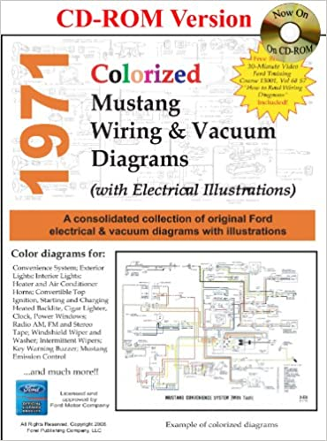 1971 colorized mustang wiring vacuum diagrams david e leblanc 1971 colorized mustang wiring vacuum diagrams david e leblanc 9781603710305 amazon com books
