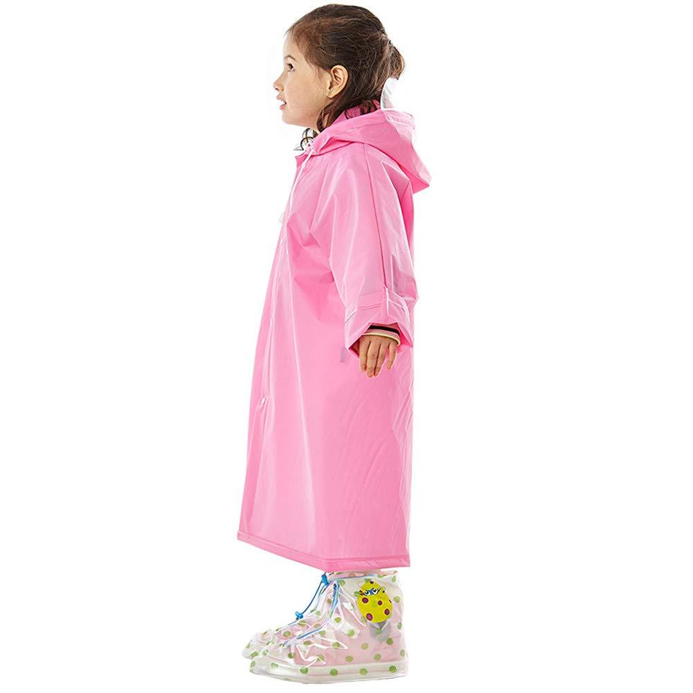 KARRESLY Waterproof Kids Raincoat Teens Hooded Rain Jacket Childrens Poncho