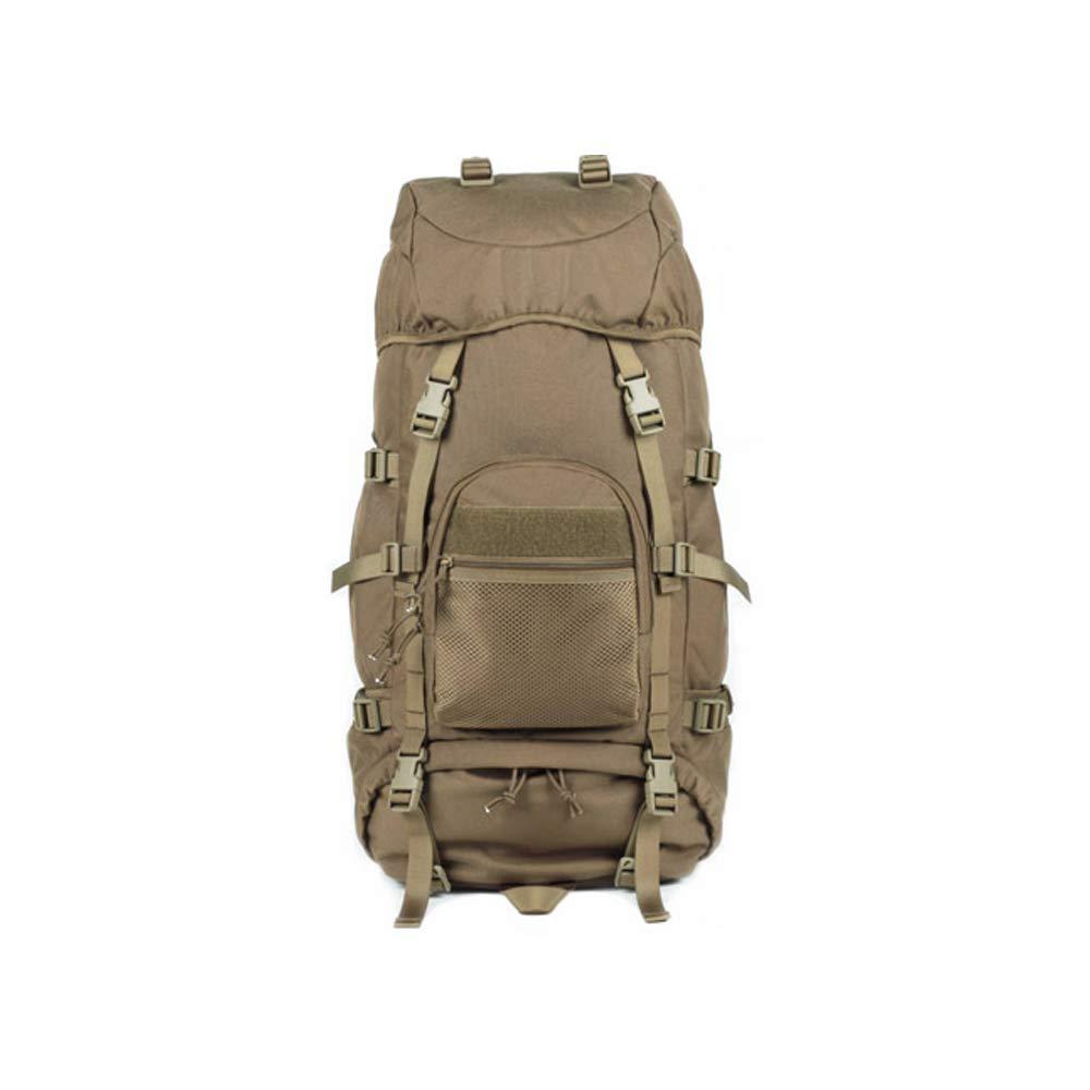 QP Backpack - Waterproof Hiking Backpack/Marching Bag/Unisex Travel Bag (Color : Khaki)