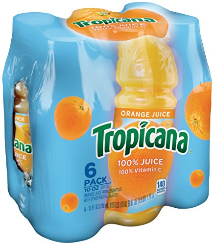 Tropicana Orange Juice, 10 Ounce (Pack of 6)