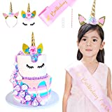 Unicorn Cake Topper with Eyelashes, Unicorn
