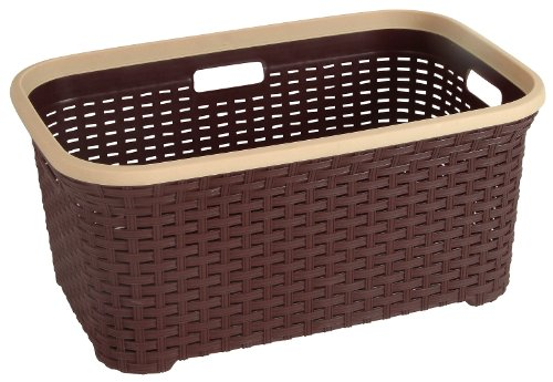 - Rattan (Wicker Style) 1.4 Bushel Laundry Basket (Brown)